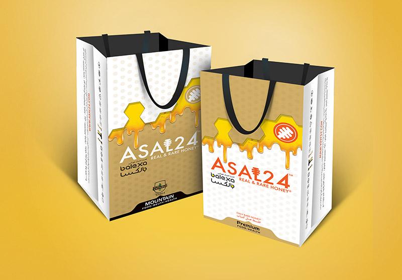 Asal 24 - طراحی ساک تبلیغاتی