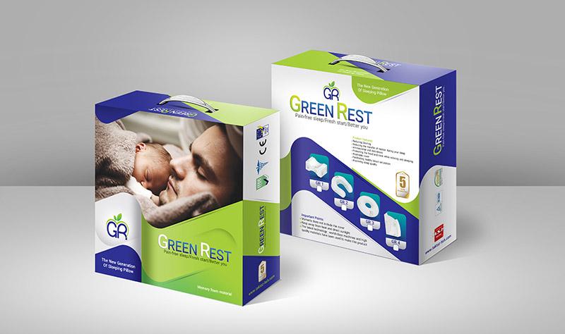 Green Rest Box Mockup 4 - طراحی بسته بندی