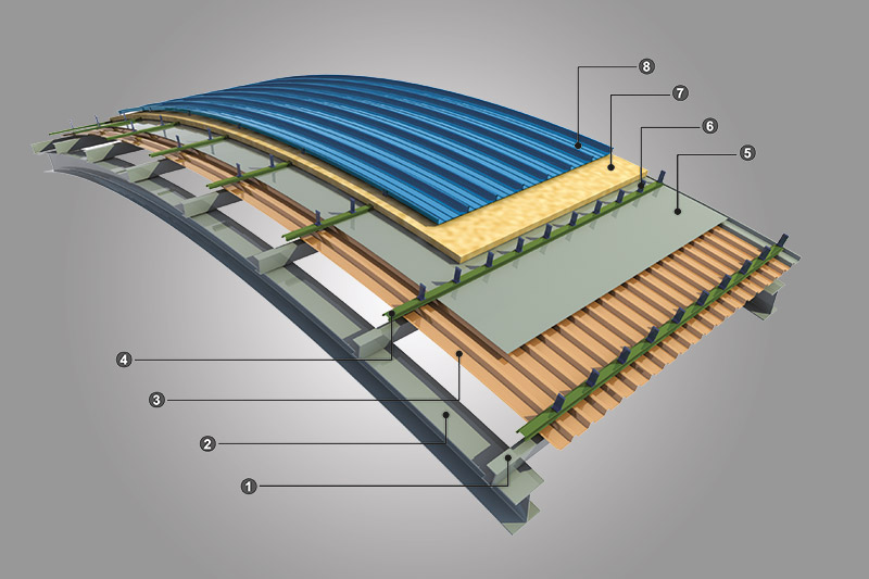 roofing system - مدلسازی سه بعدی